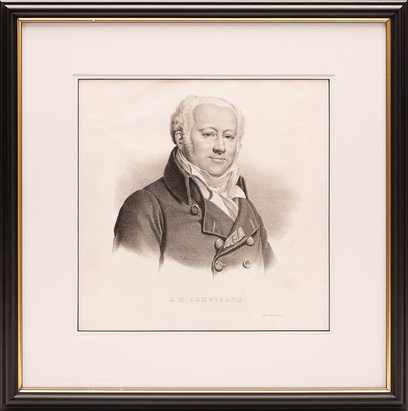 Original, early 19th-century portrait of french physician and cardiologist, Jean-Nicolas Corvisart