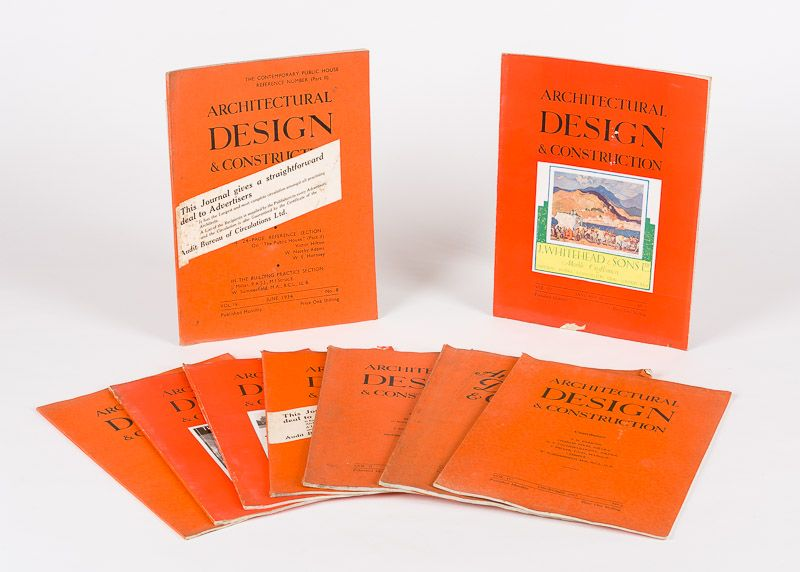 Architectural Design. Architectural Design & Construction. Collection of nine (9
