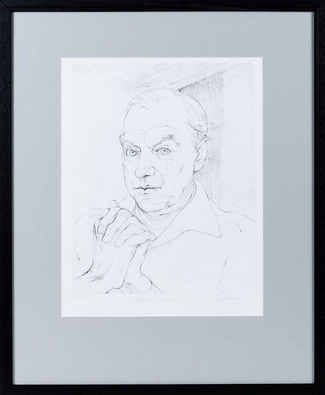 [Greene, Original Lithographic Portrait of Graham Greene. An Artist's Proof