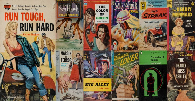 Fante, A wonderful collection of over 900 vintage paperbacks, fastidiously hand-