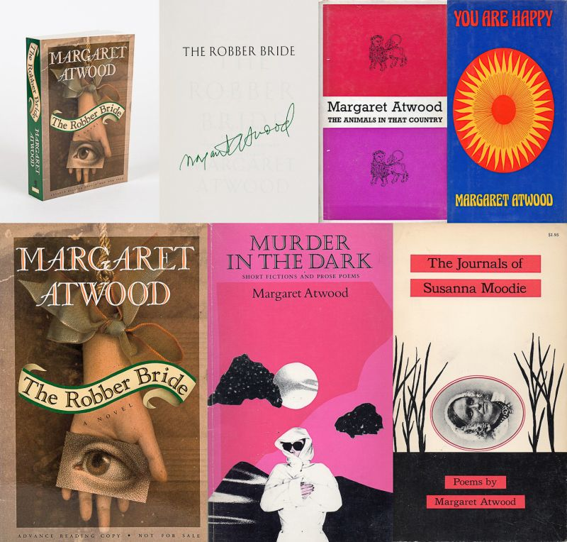 Atwood, Collection of four important association copies of poetry by Margaret At