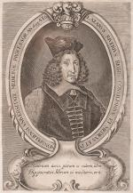 Original 17th-century portrait of french pioneer pharmacologist, anatomist and s