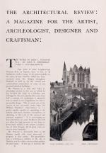 Hastings, The Architectural Review : For the Artist & Craftsman