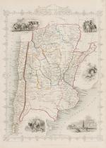 Tallis, Chili [Chile] and La Plata - with Vignettes and Illustrations of Buenos Aires