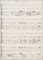 Sommer, 19th century Manuscript by british composer James van Sommer
