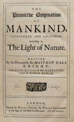 Hale - The Primitive Origination of Mankind, considered and examined According t