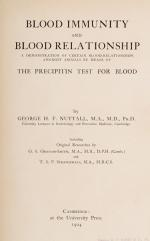 Nuttall, Blood Immunity and Blood Relationship
