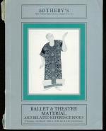 Sotheby's - Ballet and Theatre Material and Related Reference Books.