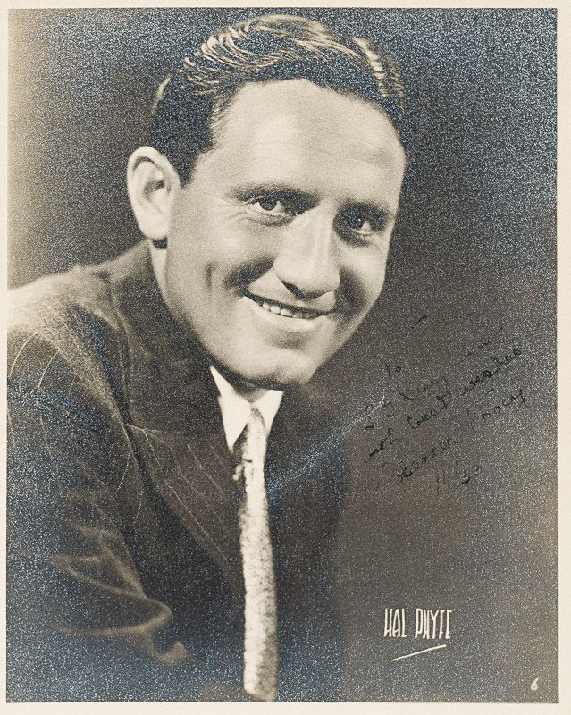 Vintage black and white photograph of a young Spencer Tracy, by Hal Payee