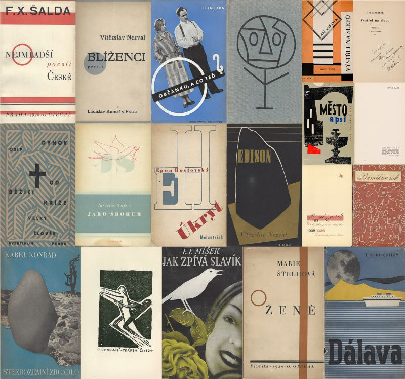 Nezval, Collection of 27 stunning publications of the Czech Avantgarde, Czech Tr