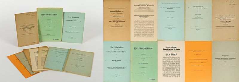 [Behring, Collection of nine important Emil von Behring – offprints from the Exi