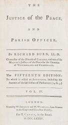 Burn, The Justice of the Peace and Parish Officer.