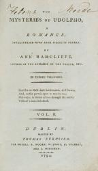 Ann Radcliffe - The Mysteries of Udolpho - A Romance; interspersed with some pie