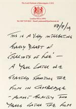 "A xeroxed copy of the second draft of ""Chariots of Fire"", which David Puttnam s"